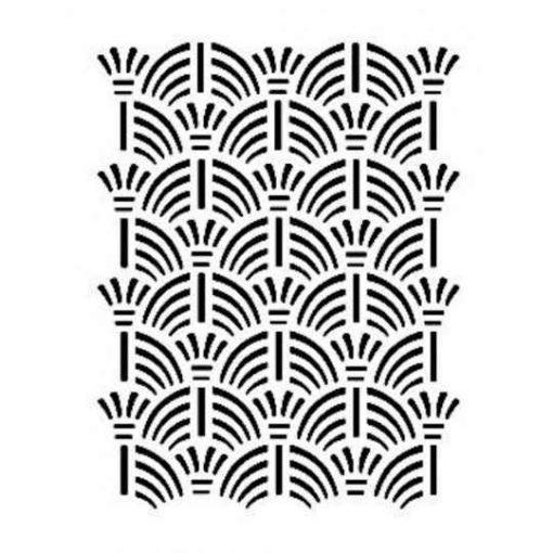Plantilla de stencil estarcido con dibujos geométricos AS510 - Taller decoración de muebles antiguos Madrid estilo Shabby Chic, Provenzal, Romántico, Nórdico