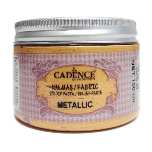 Pasta de relieve textil con textura efecto metalizado Glitter oro de Cadence ref CAD15903 - Taller de decoración de muebles antiguos Madrid estilo Shabby Chic, Provenzal, Romántico, Nórdico