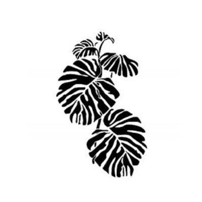 Plantilla de stencil estarcido con motivos vegetales y hojas de Cadence BN151 - Taller decoración de muebles antiguos Madrid estilo Shabby Chic, Provenzal, Romántico, Nórdico