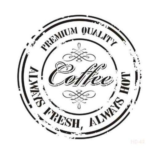 Plantilla de stencil estarcido XL con sello Coffee Cadence Home Decor HD049 - Taller decoración de muebles antiguos Madrid estilo Shabby Chic, Provenzal, Romántico, Nórdico