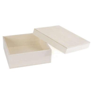 Caja cuadrada de madera con tapa, para decorar MAD87521 - Taller decoración de muebles antiguos Madrid estilo Shabby Chic, Provenzal, Romántico, Nórdico