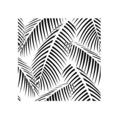 Plantilla de stencil estarcido XL con hojas tropicales Cadence Home Decor HD121 - Taller decoración de muebles antiguos Madrid estilo Shabby Chic, Provenzal, Romántico, Nórdico