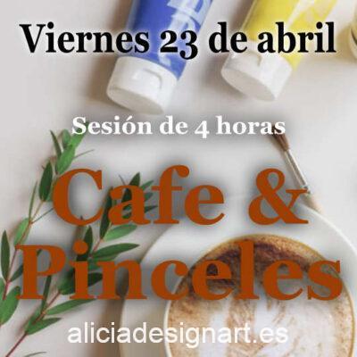 Café y Pinceles, sesión de 4 horas en la que te acompaño para decorar tu propio mueble, viernes 23 de abril 2021 - Taller de decoración de muebles antiguos Alicia Designart Madrid