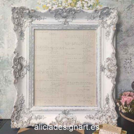 Cuadro decorativo con técnicas mixtas, cartas manuscritas 1920, Shabby Chic - Taller decoración de muebles antiguos Madrid estilo Shabby Chic, Provenzal, Romántico, Nórdico