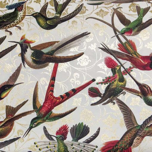 Papel florentino decorativo para découpage y scrapbooking Hummingbirds de Rossi ref: CRT187 - Taller decoración de muebles antiguos Madrid estilo Shabby Chic, Provenzal, Romántico, Nórdico