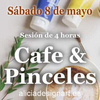 Café y Pinceles, sesión de 4 horas en la que te acompaño para decorar tu propio mueble, sábado 8 de mayo 2021 - Taller de decoración de muebles antiguos Alicia Designart Madrid