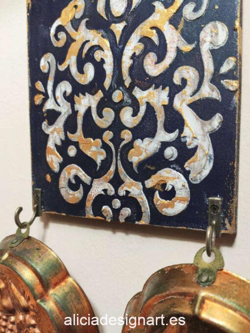 Ganchito de hierro color bronce con un tornillo - Decoración de muebles antiguos estilo Shabby Chic, Provenzal, Romántico, Nórdico
