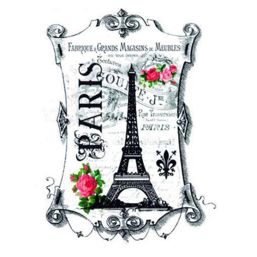 Papel para transfer Paris de Cadence Home Decor ref HDT030 - Taller decoración de muebles antiguos Madrid estilo Shabby Chic, Provenzal, Romántico, Nórdico