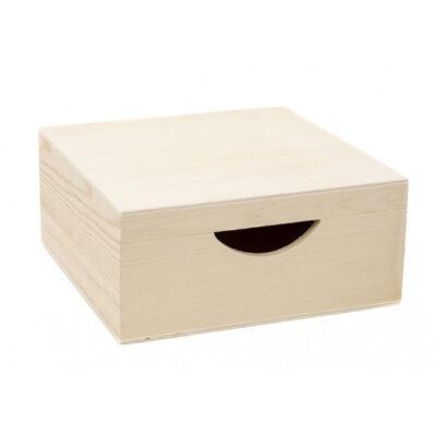 Caja cuadrada de madera para servilletas, para decorar MAD87285 - Taller decoración de muebles antiguos Madrid estilo Shabby Chic, Provenzal, Romántico, Nórdico