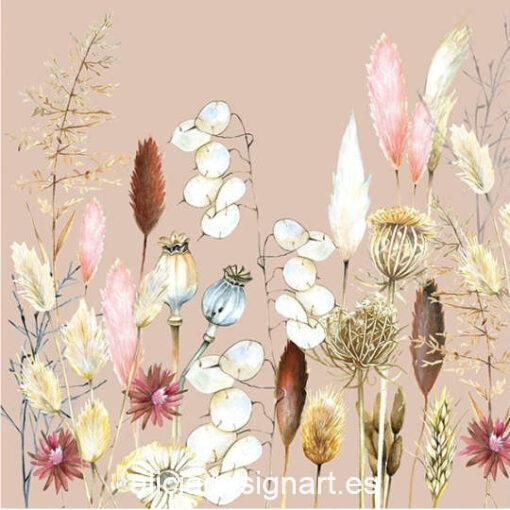 Servilleta para découpage con potpourri de flores, ref 13315005 - Decoración de muebles antiguos estilo Shabby Chic, Provenzal, Romántico, Nórdico