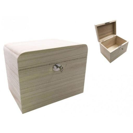 Caja cofre de madera con cerradura, para decorar MAD87915 - Taller decoración de muebles antiguos Madrid estilo Shabby Chic, Provenzal, Romántico, Nórdico