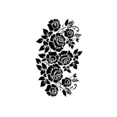 Plantilla Cadence de stencil estarcido con grupo de rosas AS519 - Taller decoración de muebles antiguos Madrid estilo Shabby Chic, Provenzal, Romántico, Nórdico