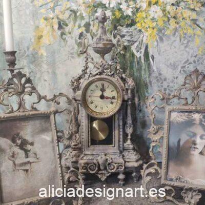 Reloj antiguo de pie, estilo francés - Taller decoración de muebles antiguos Madrid estilo Shabby Chic, Provenzal, Romántico, Nórdico
