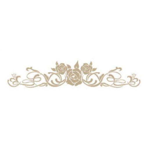 Plantilla de stencil estarcido cenefa con tres rosas 4687 - Taller decoración de muebles antiguos Madrid estilo Shabby Chic, Provenzal, Romántico, Nórdico